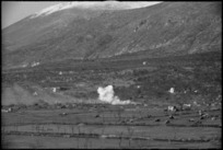 Enemy shelling dispersed transport near San Pietro in the Monte Cassino area, Italy, World War II - Photograph taken by George Kaye
