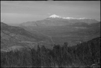 View of Monte Cairo and Monte Cassino from Monte Rotondo, Italy, World War II - Photograph taken by George Kaye