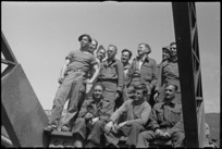 American and NZ engineers in the Cassino area, Italy, World War II - Photograph taken by George Kaye