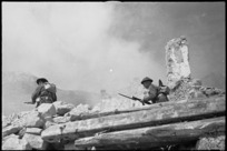 Soldiers on the Cassino battlefront, Italy - Photograph taken by George Kaye