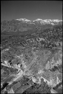 View of the country seen from the castle overlooking the village of Cerro, Italy - Photograph taken by George Kaye