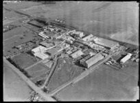 View of Kempthorne Prossers Hellaby's Municipal Abattoirs Westfield Chemical Works Factory, Auckland