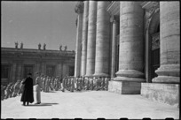 Party of World War II New Zealand soldiers entering St Peter's Basilica, Rome, Italy - Photograph taken by George Kaye