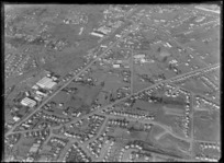 One Tree Hill Borough Council area east of Cornwall Park, looking to the suburb of Ellerslie and the Great South Road, Auckland City