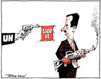 Tremain, Garrick 1941- :[United Nations and Bashar al Assad]. 1 July 2012
