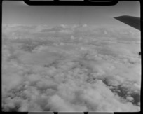 Cloud formation, taken from a NAC (National Airways Corporation) Viscount aircraft, over Tasman Bay