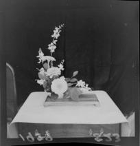 Floral decoration on display
