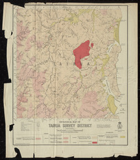 Geological map of Tairua survey district [cartographic material] / compiled and drawn by G.E. Harris.