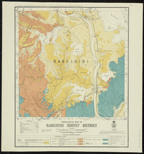 Geological map of Rangiriri survey district [cartographic material] / drawn by G.E. Harris.