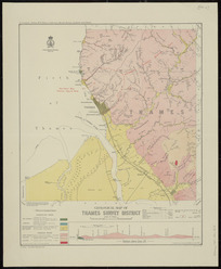 Geological map of Thames survey district [cartographic material] / compiled and drawn by G.E. Harris.
