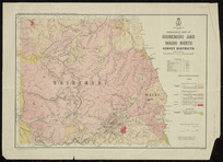 Geological map of Ohinemuri and Waihi north survey districts [cartographic material] / compiled and drawn by G.E. Harris.