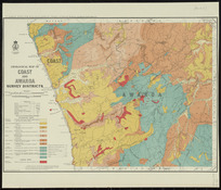Geological map of Coast and Awaroa survey districts [cartographic material] / compiled and drawn by G.E. Harris.