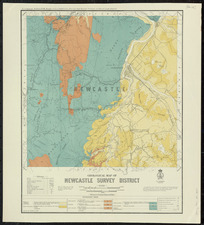 Geological map of Newcastle survey district [cartographic material] / drawn by G.E. Harris.