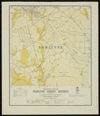 Geological map of Hamilton survey district [cartographic material] / drawn by G.E. Harris.