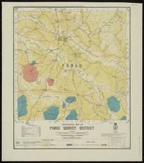Geological map of Puniu survey district [cartographic material] / drawn by G.E. Harris.