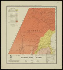 Geological map of Rotorua survey district [cartographic material] / drawn by G.E. Harris.