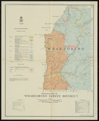Geological map of Whareorino survey district [cartographic material] / compiled and drawn by A.W. Hampton.