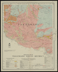 Geological map of Pakaumanu survey district [cartographic material] / compiled and drawn by A.W. Hampton.