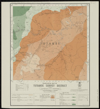 Geological map of Tutamoe survey district [cartographic material] / drawn by G.E. Harris.