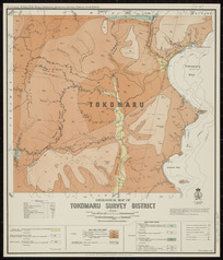Geological map of Tokomaru survey district [cartographic material] / drawn by G.E. Harris.