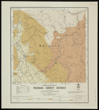 Geological map of Waimata survey district [cartographic material] / compiled and drawn by G.E. Harris.