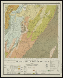 Geological map of Motuotaraia Survey District [cartographic material] / drawn by A.W. Hampton.