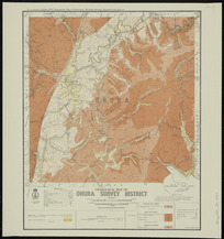 Geological map of Ohura survey district [cartographic material] / drawn by G.E. Harris.
