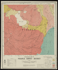 Geological map of Pihanga Survey District [cartographic material] / drawn by G.E. Harris.