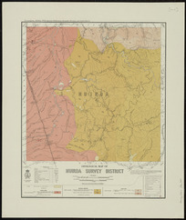 Geological map of Huiroa District [cartographic material] / drawn by G.E. Harris.