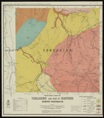 Geological map of Tongariro and part of Kaitieke Survey Districts [cartographic material] / drawn by G.E. Harris.