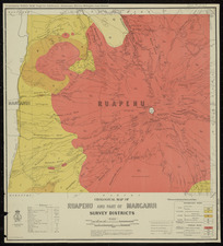 Geological map of Ruapehu and part of Manganui Survey Districts [cartographic material] / drawn by G.E. Harris.