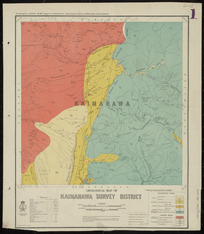 Geological map of Kaimanawa Survey District [cartographic material] / drawn by G.E. Harris.