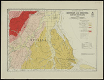 Geological map of Motueka and Moutere survey districts [cartographic material] / drawn by G.E. Harris.