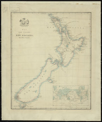 Map of the colony of New Zealand, from official documents [cartographic material].