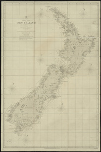 New Zealand [cartographic material] : from surveys in H.M.S. Acheron & Pandora 1848-1855.