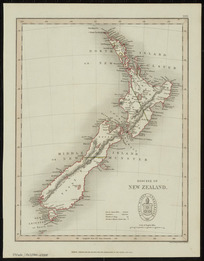 Diocese of New Zealand [cartographic material] / drawn and engraved by J. Archer.