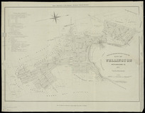 Wise's New Zealand directory plan of the city of Wellington, with additions to 1875 [cartographic material] / drawn on stone by Thos. George.