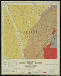 Geological map of Gordon survey district [cartographic material] / drawn by G.E. Harris, 1930.