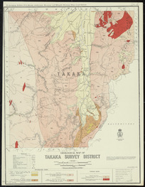 Geological map of Takaka Survey District [cartographic material] / drawn by G.E. Harris.