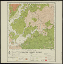 Geological map of Otamatea survey district [cartographic material] / drawn by G.E. Harris & J.E. Hannah ; compiled from data obtained from the Lands and Survey Department and from Admiralty charts ; additional surveys and geology by H.T. Ferrar of the Geological Survey Branch of the Department of Scientific and Industrial Research.