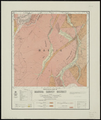 Geological map of Maruia survey district [cartographic material] / drawn by G.E. Harris, 1935.
