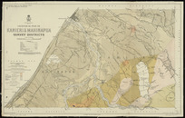 Geological plan of Kanieri & Mahinapua survey districts [cartographic material] / drawn by R.J. Crawford, 1906.