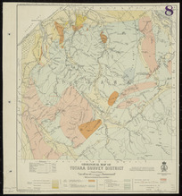 Geological map of Totara survey district [cartographic material] / compiled and drawn by R.J. Crawford, June 1908.