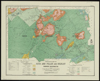 Geological map of Rock and Pillar and Highlay Survey Districts [cartographic material] / drawn by A.W. Hampton.