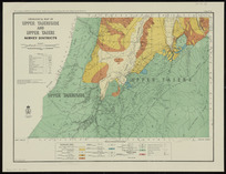 Geological map of Upper Taieriside and Upper Taieri Survey Districts [cartographic material] / drawn by G.E. Harris.