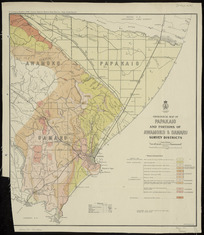 Geological map of Papakaio and portions of Awamoko & Oamaru Survey Districts [cartographic material] / drawn by G.E. Harris.