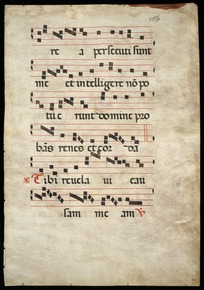 Antiphonary leaf