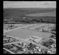 Taupo-nui-a-Tia College in Taupo, including school field and surrounding area