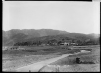 View of settlement at Tokomaru Bay looking west