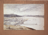 Pearse, John, 1808-1882 :Two views of Wellington from the Terrace [ca 1852]